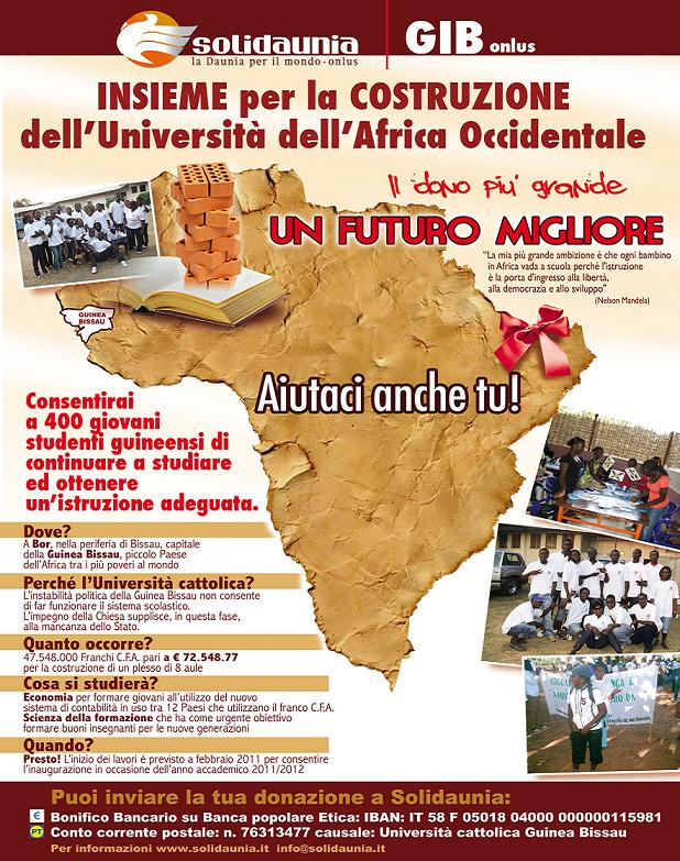 L'IMPEGNO DI FOGGIA PER L'UNIVERSITA' DELL'AFRICA OCCIDENTALE